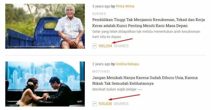 cara membuat artikel viral