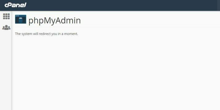 cara masuk phpMyAdmin melalui cPanel