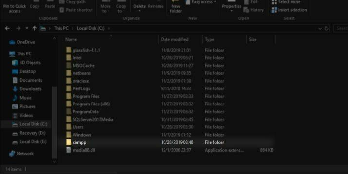 cara masuk ke phpMyAdmin pada XAMPP 01